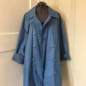 Blue London Fog Light Trench Coat